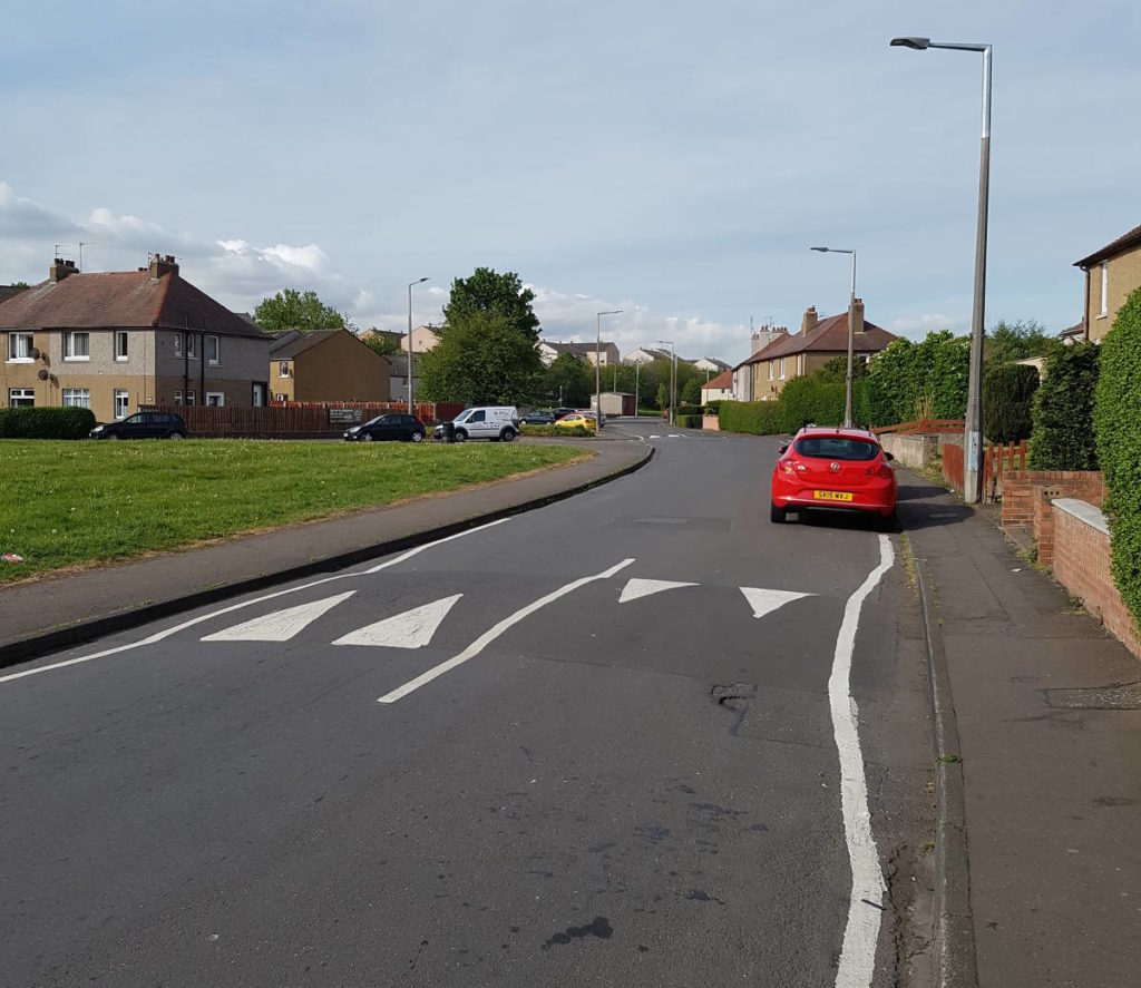 Speed bumps in Wester Hailes and Sighthill